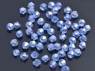 200x Wholesale 4mm Bicone Faceted Crystal Glass Loose Spacer Beads Light Blue AB