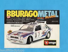 TOP990-PUBBLICITA'/ADVERTISING-1990- BURAGO - LANCIA DELTA S4 1/24