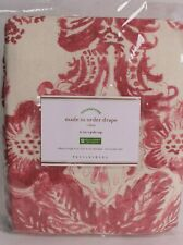 Pottery Barn Thea print drape curtain panel, 50x96, red warm multi, cotton lined