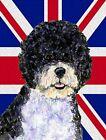 Portuguese Water Dog with English Union Jack British Flag Large