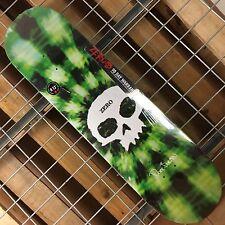 New Zero Dane Burman Tie dye Signature Skull R7 Green Skateboard Deck - 8.13in