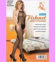 Erotischer SeXy Netz Body, Catsuit, Bodystocking, ouvert, schwarz, Gr. S- L