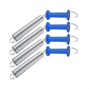 4x Set Torgriffe mit Torfeder bis 5m Torgriff Weidezaun Elektrozaun Durchgang