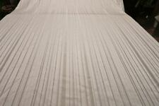 "120"" LONG Silver Formal Banquet Damask Blend Tablecloth Satin Look Striped Motif"
