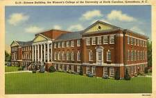 1940 GREENSBORO NC Women's College of University of North Carolina postcard