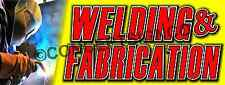 2'X5'  WELDING & FABRICATION BANNER Outdoor Indoor Sign Auto Body Shop Repairs