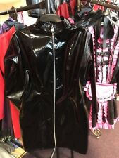 Misfitz black pvc padlock zip mistress dress Size 22 TV Goth Fetish Club