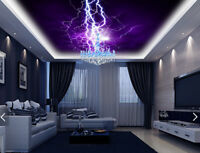 3D Purple Lightning Light 89 Wall Paper Wall Print Decal Wall Deco AJ WALLPAPER