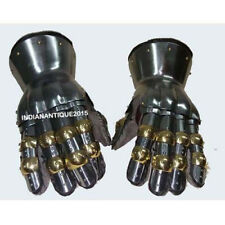 New Functional Metal Gloves Hourglass Gauntlets 16G Large Size SCA LARP