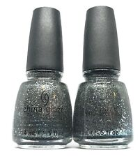 China Glaze Nail Polish Tinsel Town 1022 Silver Gray Navy Blue Glitter Lacquer