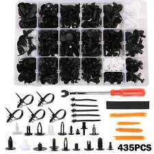 435PCS Car Bumper Door Push Pin Fastener Clips Trim Panel  Rivet + Removal Tools
