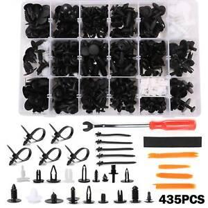 435PCS Car Bumper Door Push Pin Fastener Clips Trim Panel  Rivet + Removal Tools