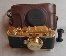 Leica II D Luftwaffe Z copy gold in leather case (FED Zorki copy)