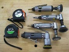 4 Central Pneumatic Air Tools (2) Angle Die Grinders, Die Grinder, Orbit Sander