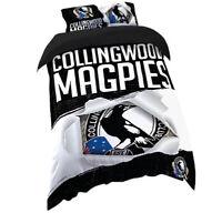 Collingwood | Magpies Quilt | Doona Duvet Cover Set | AFL Football | Single