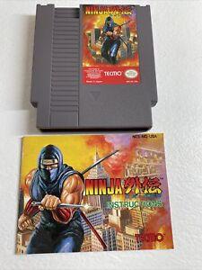 Ninja Gaiden (Nintendo Entertainment System, 1989) Cart. & Manual