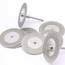 10 x Diamant Trennscheiben Ø35mm Schmuck Glas Metall Schleifscheibe + Dorn / D27