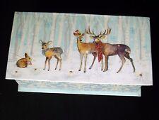 Punch Studio 4 oz Bar Apple Cinnamon Soap in a Music Box Winter Deer 81035