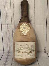 """The Square Nest RN#105115 Grande Marque 20"""" Wine Bottle Plush 100% Silk"""