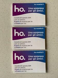 3 SIM HO.mobile NUOVE con 5 € in OMAGGIO