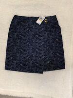 Pencil Skirt MICHAEL Michael Kors- Size Medium- NWT- Stretch Fit-navy paisley