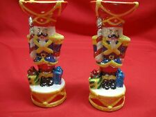 CHISTOPHER RADKO 2003 TOY SOLDIER CHRISTMAS CANDLE HOLDERS - SET OF TWO