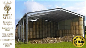 Thistle Steel Building Open Agricultural Storage Unit.
