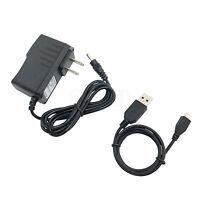 AC/DC Power Adapter Charger + USB Cord for Pandigital Novel PRD07T20WBL7 Tablet