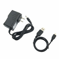 Power Adapter Charger + USB Cord For Visual Land Prestige Elite 7Q ME-7Q Tablet