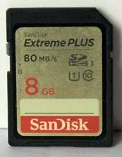 Sandisk Ultra 8GB SDHC 80mb/sec memory card.