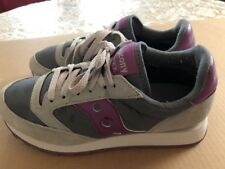 Saucony Jazz Original Size 8.5, EU 40 Women's Running Shoes Gray & Purple. 1044