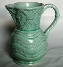 Vintage Green Earthenware Jug - Roddy Ware