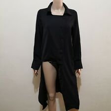 C61 - Very Black Deconstructed Semi-sheer Dress Coat