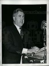 1947 Press Photo Henry Wallace Speaking at Citizens of America Rally, New York