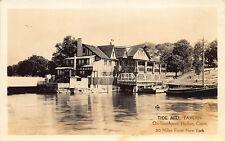 Southport Harbor CT Tide Mill Tavern RPPC Real Photo Postcard