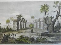 Guma Taga Tinian Island Marianas Pacific 1839 scarce French landscape view print