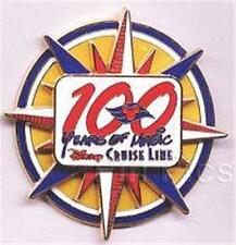 100 YEARS Of MAGIC DISNEY CRUISE LINE DCL LOGO LARGE SPINNER 2001 PIN