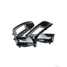 For AUDI A4 B8.5 13-15 Fog Light Lamp & Grille Kit+LED+S4 RS4 Style+Facelift+New