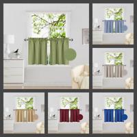 "2PC Drape Rod Pocket Window Treatment Curtain Insulated Blackout Set 30""X24"" R16"