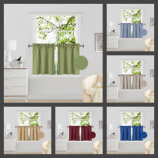 "2PC Drape Rod Pocket Window Treatment Curtain Insulated Blackout Set 30""X24"" R16"