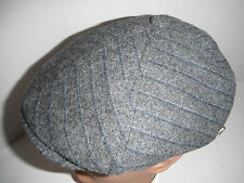 STETSON WOOL NEWSBOY CABBIE Cap Hat  MEDIUM New GREY