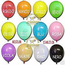25 PALLONCINI MULTICOLOR  MEDIUM, balloon, compleanno