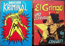 1977 LOTTO DI KRIMINAL RACCOLTA n° 1 + EL GRINGO n° 2 DI MAX BUNKER