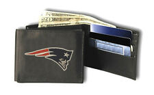 New England Patriots Leather Tri-Fold Wallet [NEW] Black Trifold NFL CDG