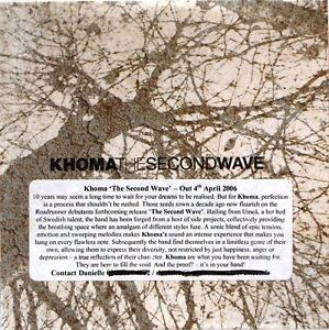 Khoma - The Second Wave Promo Album (CD 2006) (Metal/ Rock) Collectable CD