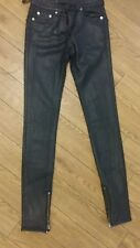 blk dnm nyc trousers ladies skinny with ancle zips uk size 6