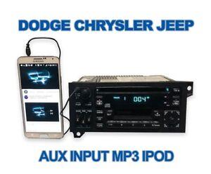 1997 1998 1999 2000 Dodge Chrysler Jeep OEM radio CD Caravan Ram Aux Input Mp3