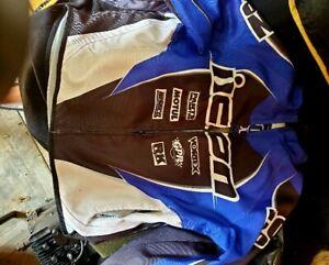 ICON Motorcycle Jacket. Blue. Size large Mesh riding jacket. Like New.