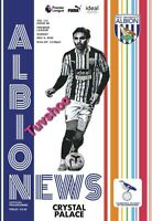 West Brom Bromwich Albion v Crystal Palace PL PROGRAMME 6/12/20! PRE-ORDER!!!