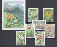 Kyrgyzstan 1994 - Set + Block - Bloemen/Flowers/Blüte